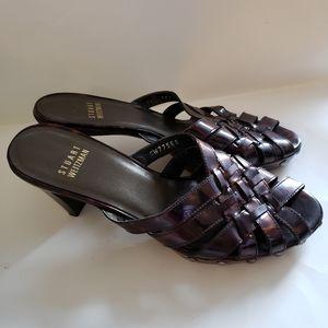 Stuart Weitzman Jelly Tortoise Shell Heel Sandals